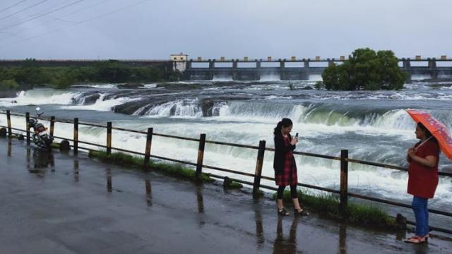 Continuous rains in the dam area of Pune district