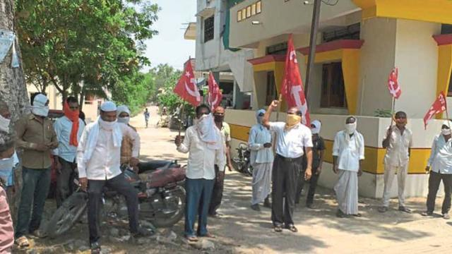 Of activists of farmers' organizations Protests against Modi government in Nashik