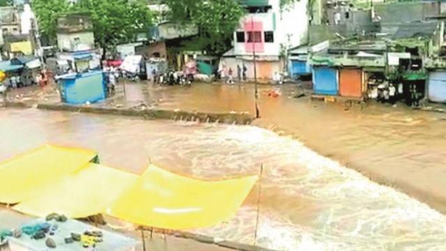 Continuous rains in the western part of Nashik district
