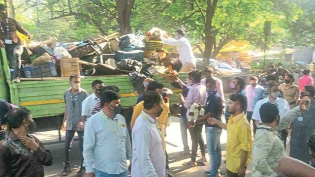 Pune Bazar Samiti's action against encroachment