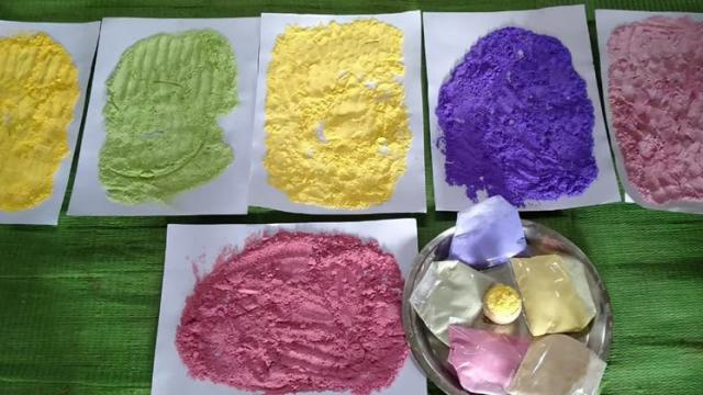 Natural colors production business for Holi