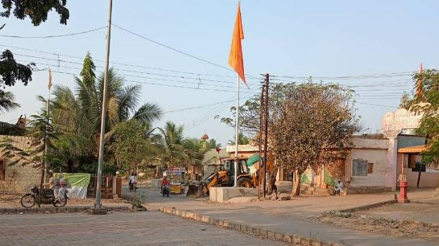 The village is clean due to underground sewers and cement roads.