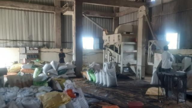 Ongoing work in grain grading machinery.