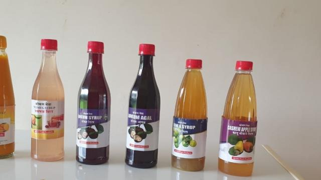 Syrups made from various fruits