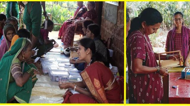 Beekeeping and health camps are organized in rural areas for women's