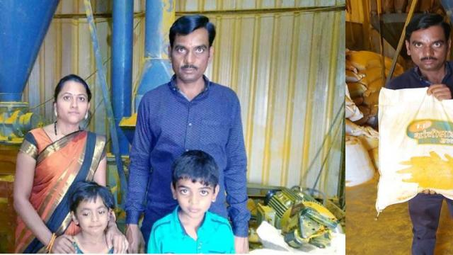 Anand Shingare with his family