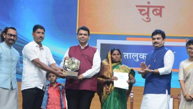 In the Pani Foundation competition, Chumbala got the first prize of Rs. 15 lakhs at the taluka level.