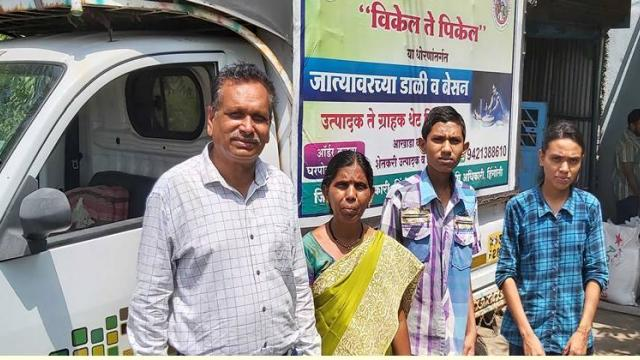 Ramesh Pandit with his family.