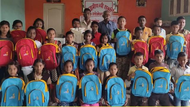 Distribution of school study materials to needy and sugarcane harvesters children