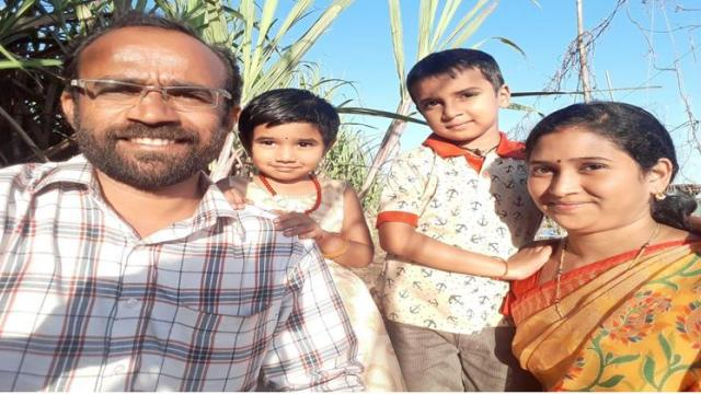 Dhairyashil Jagdale with his family