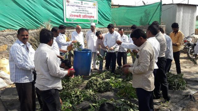 The group regularly arrange periodic trainings for the farmers
