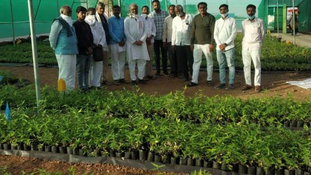 Members visited Pasha Patel's bamboo planting project.