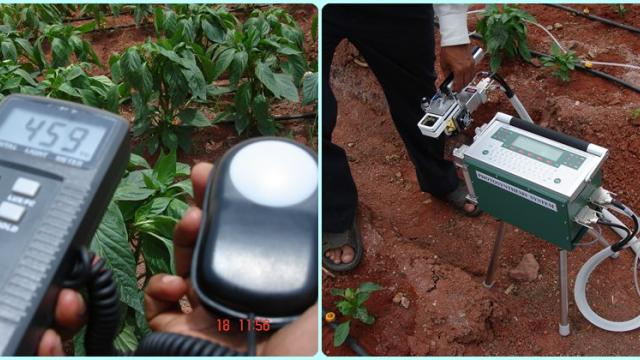 Sunlight measuring instruments for High tech Farming