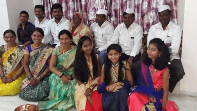 Mr. Deshmukh with his family