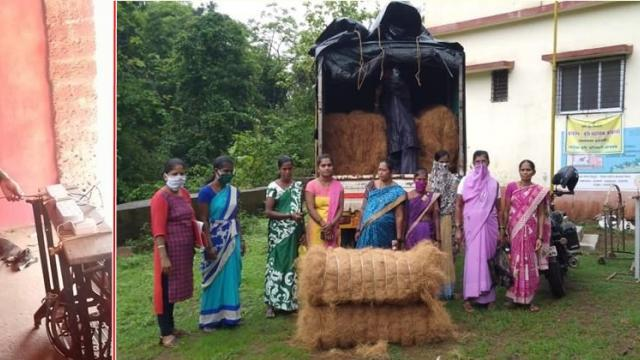 The women were trained in the Kathya process. They got employment at home.