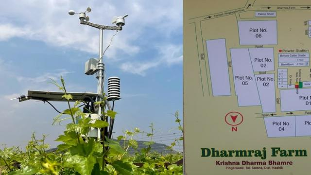 weather station and farm map