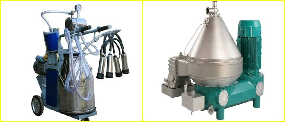 Useful machines for clean milk production
