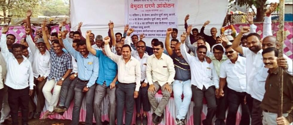 agitation of market committee workers for demands