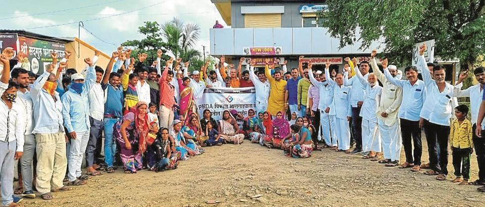 Strong opposition to PMRDA's development plan at Dhamantek