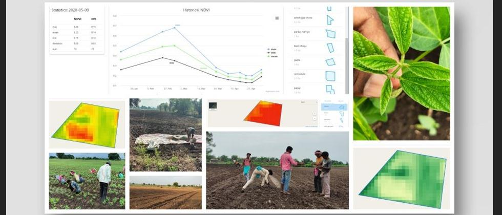 Agriculture is managed by using satellites, mobile apps etc. and data separation.