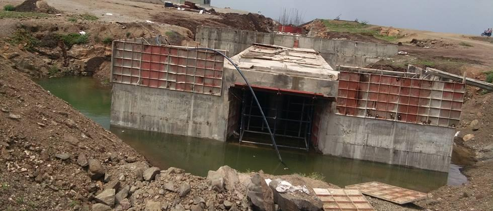 Work on the Jamphal dam was delayed