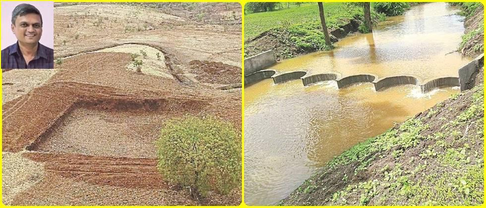 Water conservation works carried out by the organization.