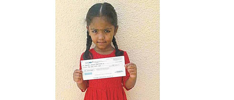 The little girl helped the CM aid fund