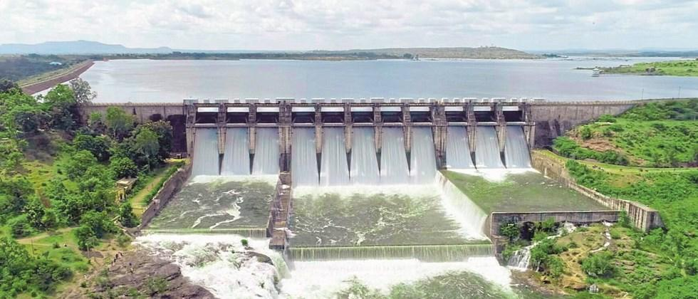 Decrease in water discharge from dams