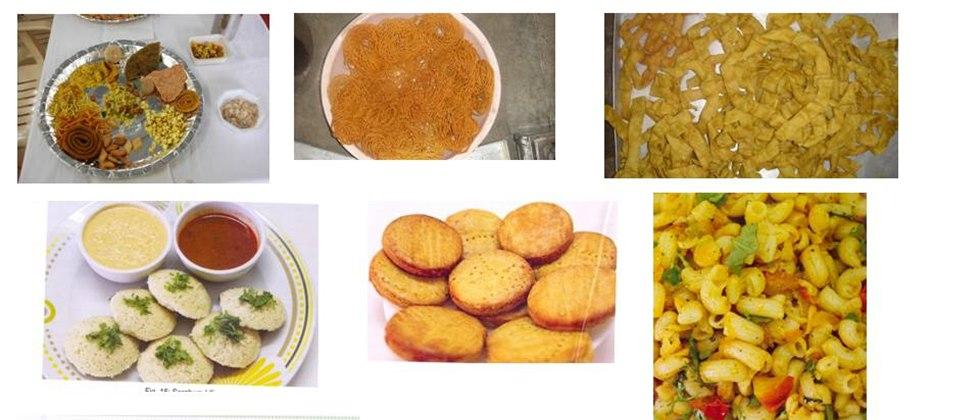 Various food products made from sorghum
