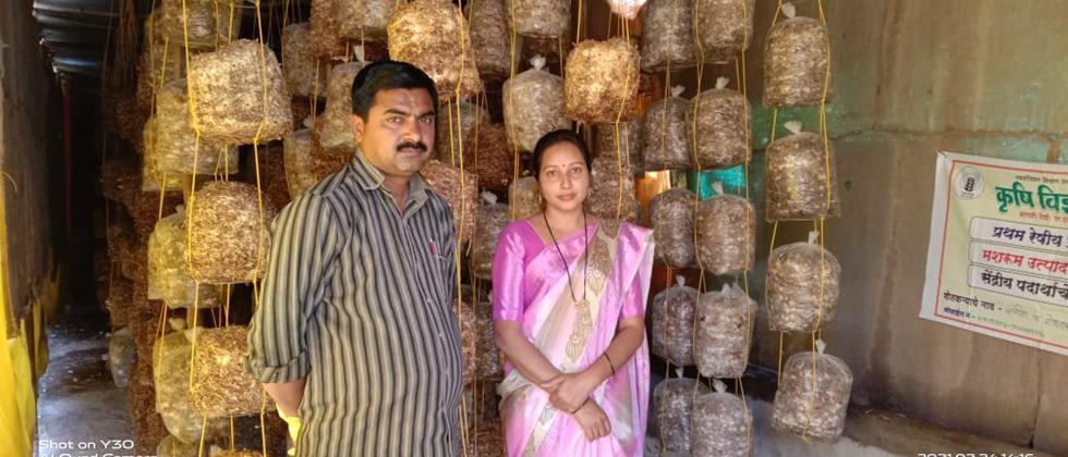 Satish and Vaishali Moharkar have gained good faith from the production and sale of mushroom.