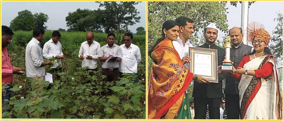 village sarpanch While accepting the award from the Collector