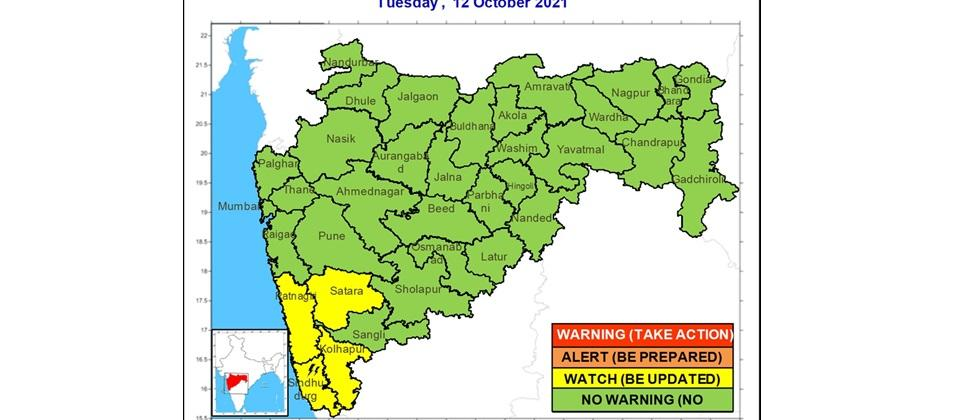 Possibility of rain exposure in the state