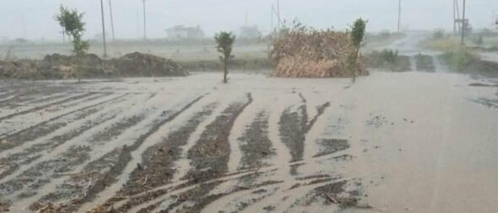 Excessive rainfall at Nandale in Dhule district