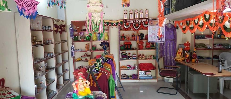 Rural Mart for sale of products of woman's self help Group.
