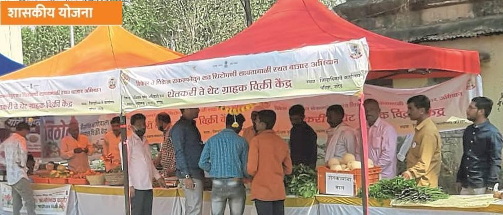 Selling farm produce directly to consumers through a farmer company in the urban market.