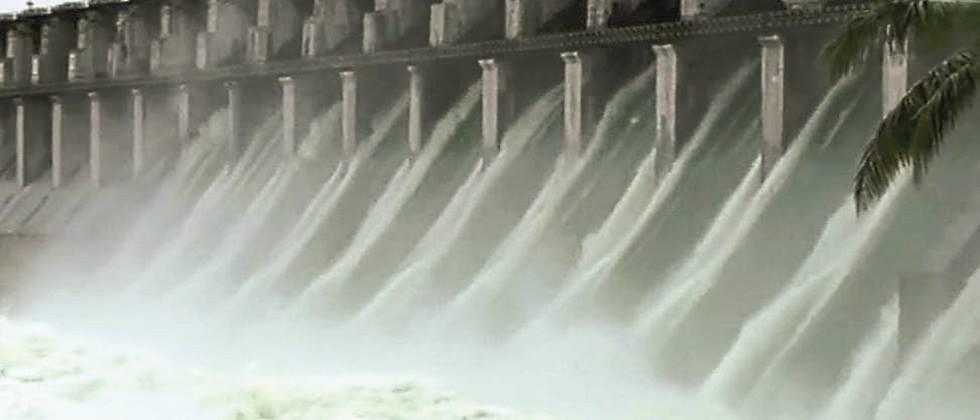 Water Released from Ujani dam in the river Bhima