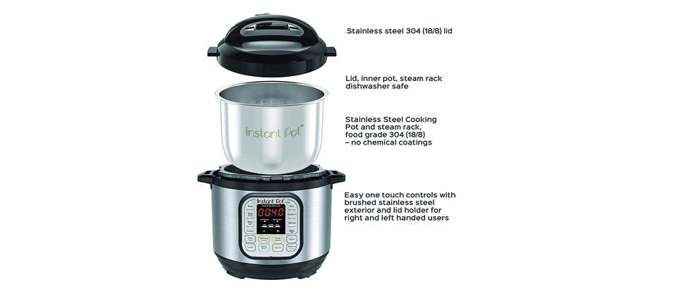 Instant pot for food cooking