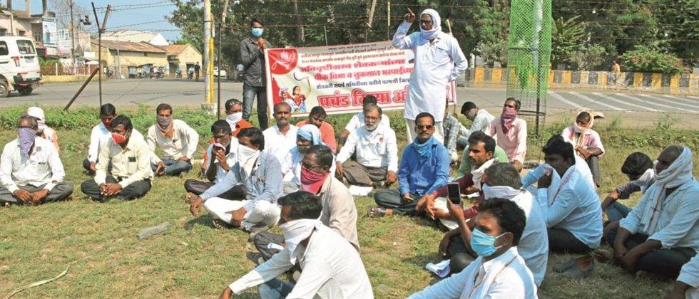 Crop damage issue of Farmers Struggle Committee