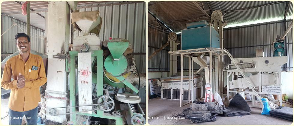 Dal mill, grain cleaning and grading machine