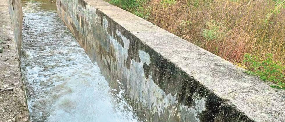Water in both low dudhana canals