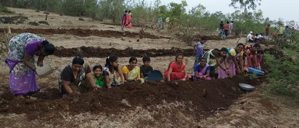 watershed development work by villagers