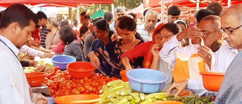 Through the company, weekly markets are being held at 12 places in Pune.