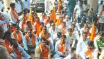 Shivsena front to demand compensation in Nagar