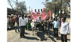 Birahad march in front of Dindori tehsil by Kisan Sabha