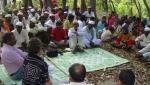 group discussion with villagers