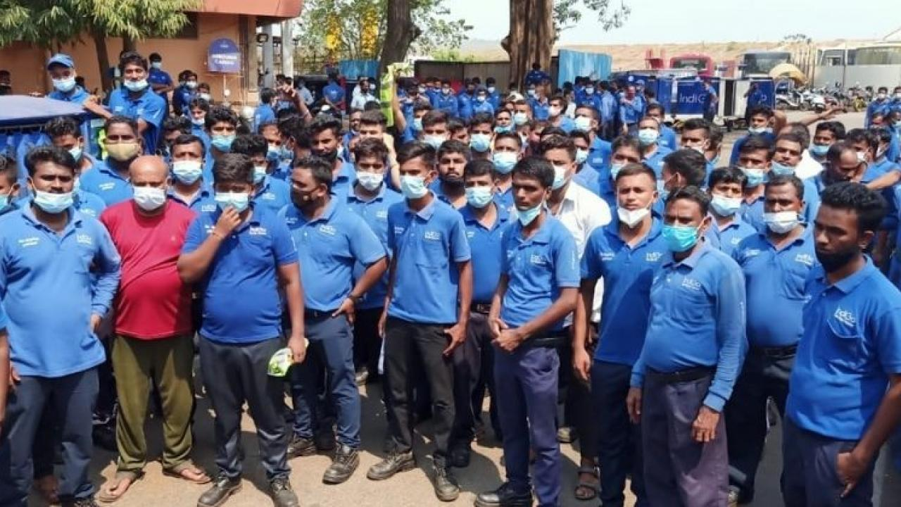 250 Indigo Airlines employees have gone on strike at Dabolim Airport