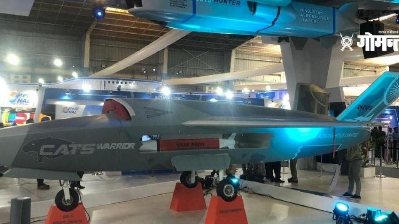 Indias first Next Generation Anti Radiation Missile Rudram1 on display at the Aero India air show in Bengaluru