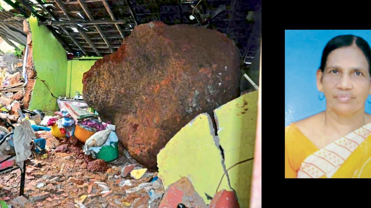 Goa: Senior citzen dead at Vasco as boulder crashes into house