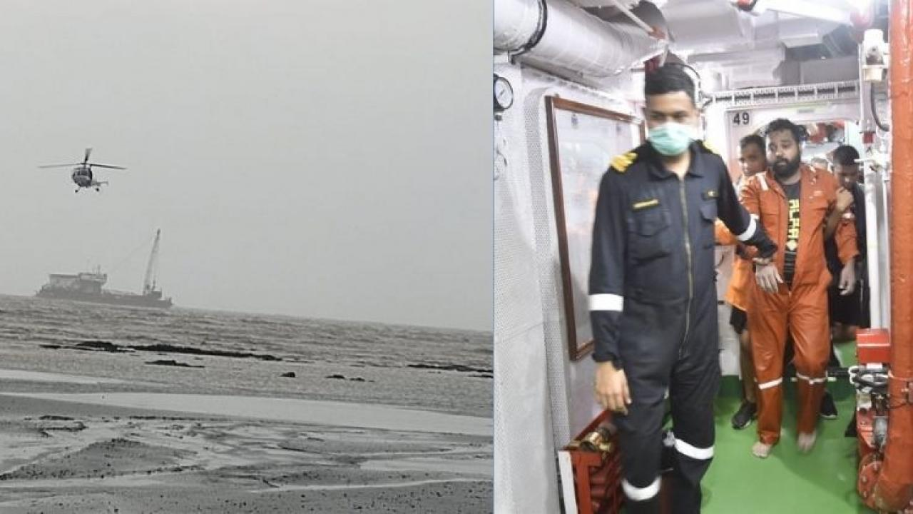People rescued by the Navy thanked the Navy