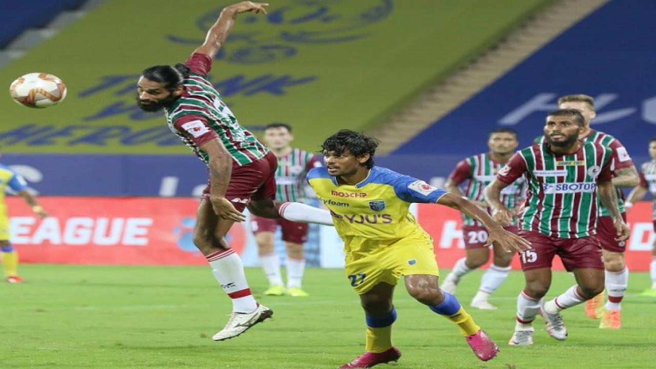 ATK Mohun Bagan beats Kerala Blasters by 1 goal in ISL match played on the Bambolim ground in Goa